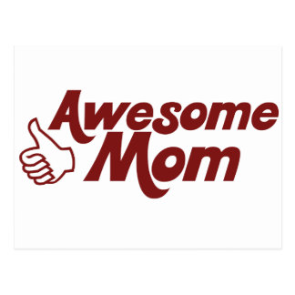 Awesome Mom for Mothers Day Postcard