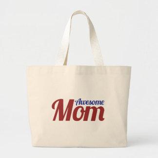 Awesome Mom Jumbo Tote Bag