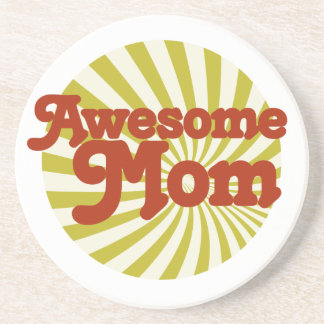 Awesome Mom Sandstone Coaster