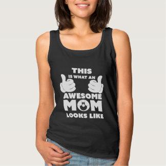 Awesome Mum Look Like Slogan Basic Tank Top