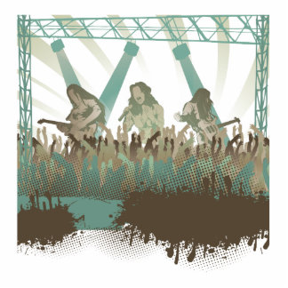 awesome music concert acrylic cut out
