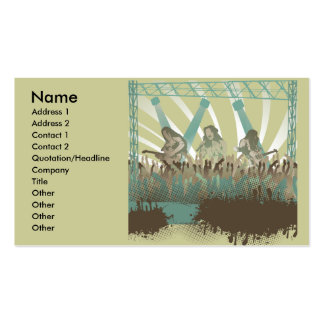 awesome music concert pack of standard business cards