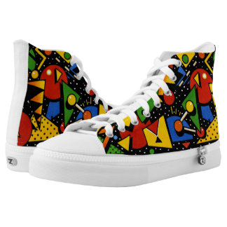 Awesome Music Festival Primary Color Modern Art High Tops
