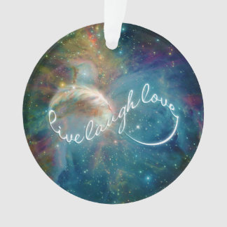 "Awesome mystic ""Live Laugh Love"" infinity symbol Ornament"