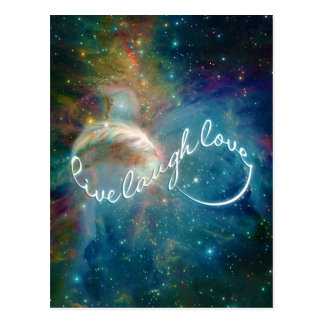 "Awesome mystic ""Live Laugh Love"" infinity symbol Postcard"