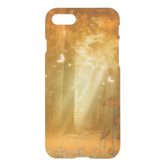 Awesome mystical forest with butterflies iPhone 7 case