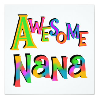 Awesome Nana T-shirts and Gifts Personalized Announcement