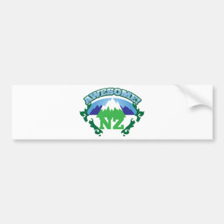 Awesome NEW ZEALAND! with mountains Bumper Sticker
