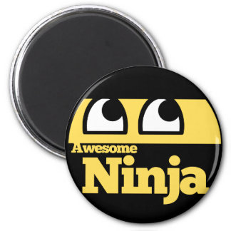 Awesome Ninja 6 Cm Round Magnet