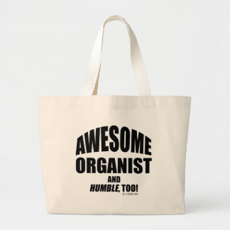 Awesome Organist Large Tote Bag
