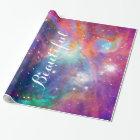"Awesome Orion nebula shining stars ""Beautiful"" Wrapping Paper"