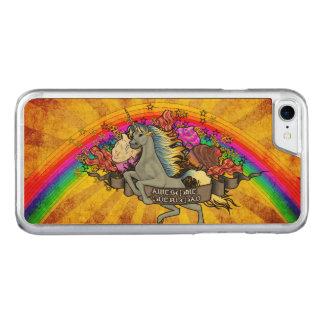 Awesome Overload Unicorn, Rainbow & Bacon Carved iPhone 8/7 Case