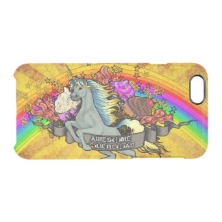 Awesome Overload Unicorn, Rainbow & Bacon Clear iPhone 6/6S Case