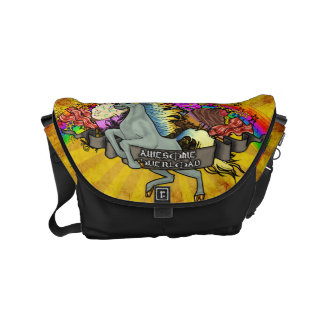 Awesome Overload Unicorn, Rainbow & Bacon Commuter Bag