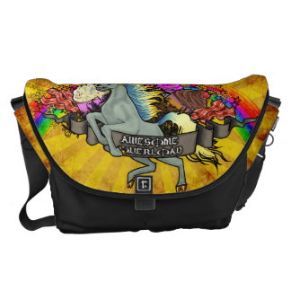 Awesome Overload Unicorn, Rainbow & Bacon Courier Bag