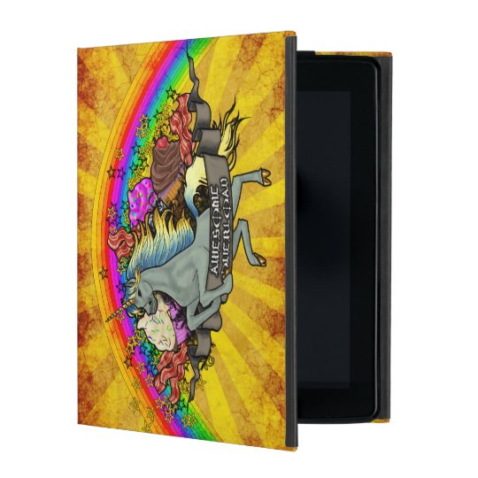 Awesome Overload Unicorn, Rainbow & Bacon iPad Case