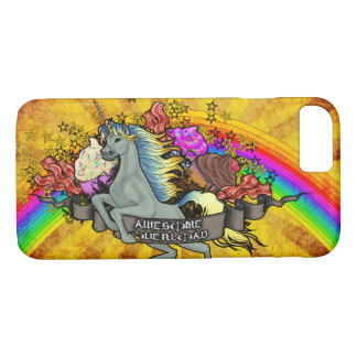 Awesome Overload Unicorn, Rainbow & Bacon iPhone 8/7 Case