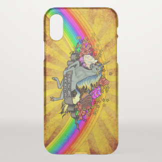Awesome Overload Unicorn, Rainbow & Bacon iPhone X Case