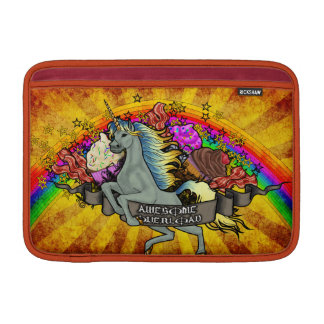 Awesome Overload Unicorn, Rainbow & Bacon MacBook Sleeve