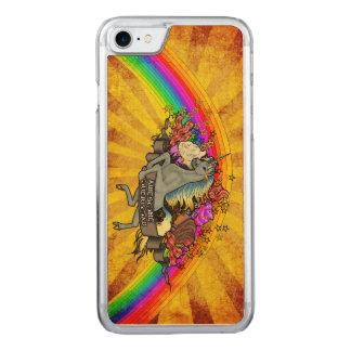 Awesome Overload Unicorn, Rainbow & Bacon Maple Carved iPhone 8/7 Case