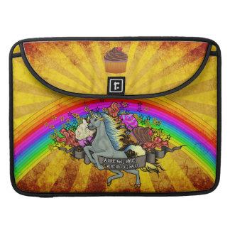 Awesome Overload Unicorn, Rainbow & Bacon Sleeve For MacBook Pro