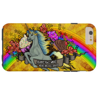 Awesome Overload Unicorn, Rainbow & Bacon Tough iPhone 6 Plus Case