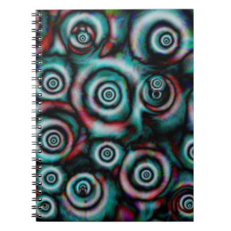 Awesome painted circles on spiral notebook