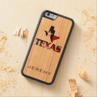 Awesome Patriotic Texas Monogram Carved® Cherry iPhone 6 Bumper Case