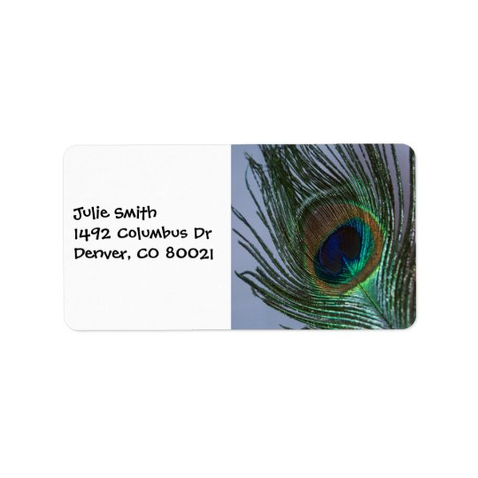 Awesome Peacock Feather Address Label