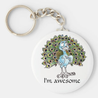 Awesome Peacock Keychain