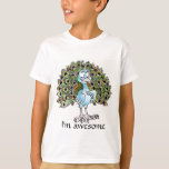 Awesome Peacock Kids T-shirt