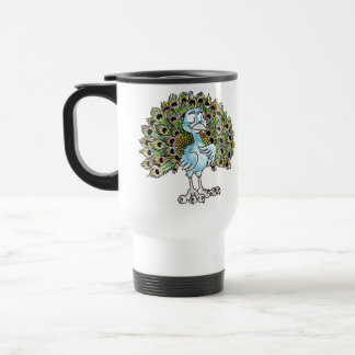 Awesome Peacock Travel Mug