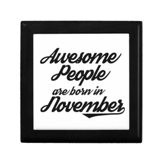 Awesome People are born in November Gift Box
