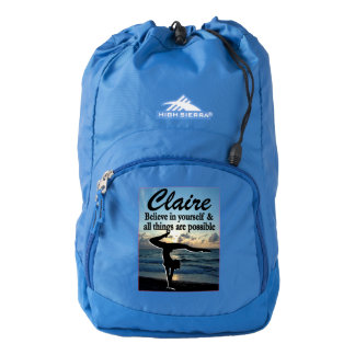 AWESOME PERSONALIZED GYMNASTICS NAP SACK BACKPACK