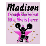 AWESOME PINK PERSONALIZED CHEERLEADING POSTER
