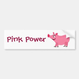 Awesome Pink Pig Wearing Lipstick Art Bumper Sticker