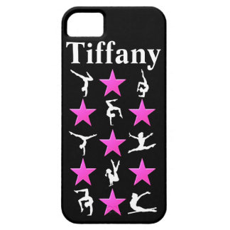 AWESOME PINK STAR PERSONALIZED GYMNAST IPHONE CASE