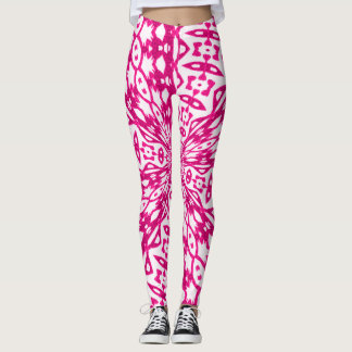 Awesome Pink Tribal Bottoms Leggings