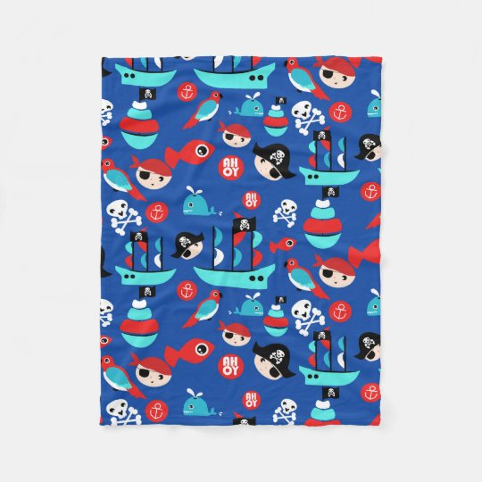 Awesome pirate pattern fleece blanket