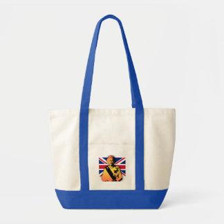 Awesome Pop Art Diamond Jubilee with Union Jack Impulse Tote Bag