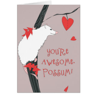 Awesome Possum Valentine Card