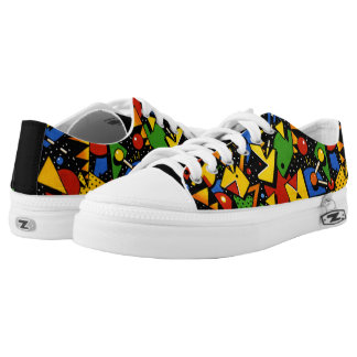 Awesome Primary Color Modern Art Jazz Printed Shoe