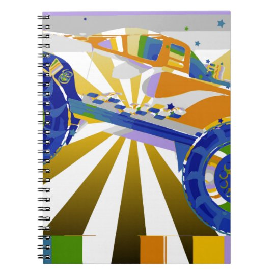 Awesome psychedelic Monster truck Notebook