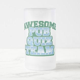 Awesome Pub Quiz TEAM! Frosted Glass Mug