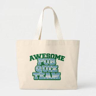 Awesome Pub Quiz TEAM! Large Tote Bag