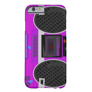 Awesome Purple 80's Boombox Barely There iPhone 6 Case