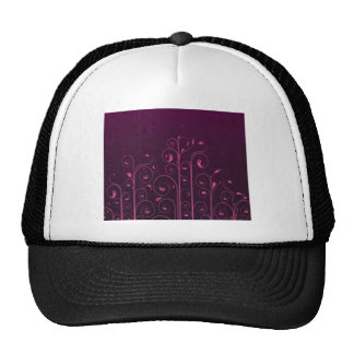 Awesome purple floral design trucker hats