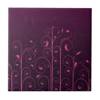 Awesome purple floral design ceramic tiles