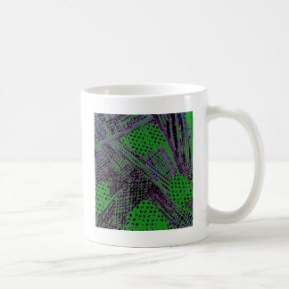 Awesome Purple Green Abstract Architectural Design Mugs