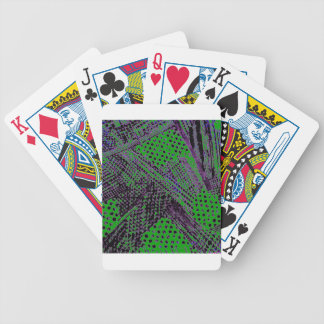 Awesome Purple Green Abstract Architectural Design Bicycle Playing Cards